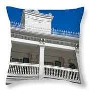 Low Angle View Of Brigham Youngs Throw Pillow