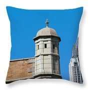 Low Angle View Of Buildings, Mobile Throw Pillow
