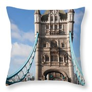 Low Angle View Of Tower Bridge, London Throw Pillow