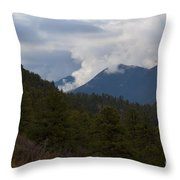 Low Clouds In Ute Pass Colorado Throw Pillow