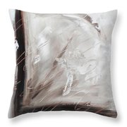 Low Cool Abstract Painting Throw Pillow