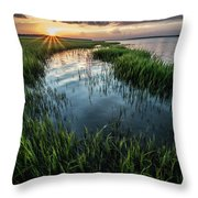 Low Country Sunset Throw Pillow