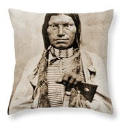 Low Dog Sioux Throw Pillow