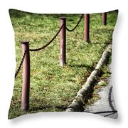 low fence Chain Throw Pillow