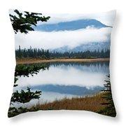 Low Hanging Clouds Throw Pillow