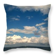 Low Hanging Clouds Throw Pillow