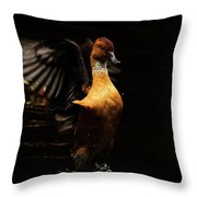 Low Key Duck Throw Pillow