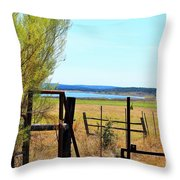 Low Land By The Lake Throw Pillow