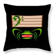 Low Note Throw Pillow