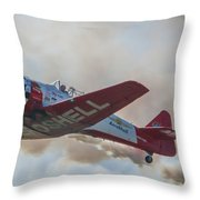 Low Pass Stunt Plane Throw Pillow