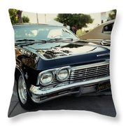 Low Rider In Black Throw Pillow