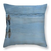 Low Tide At Agate Beach Throw Pillow by Jenny Armitage