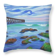 Low Tide At Haskell's Beach Throw Pillow