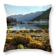Low Tide At Horseshoe Bay Canada Throw Pillow