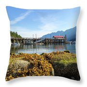 Low Tide At Horseshoe Bay Canada On A Sunny Day Throw Pillow