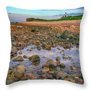 Low Tide At Montauk Point Throw Pillow