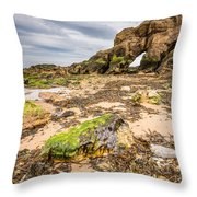 Low Tide At Saddle Rocks Throw Pillow