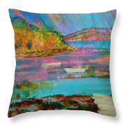 Low Tide At Salcombe In The South Hams Throw Pillow
