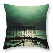 Low Tide By Moonlight Throw Pillow
