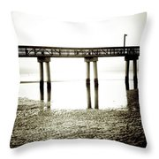 Low Tide Extreme Throw Pillow