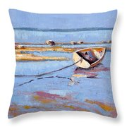Low Tide Flats II Throw Pillow