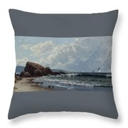 Low Tide, Hetherington's Cove, Grand Manan By Alfred Thompson Bricher Throw Pillow