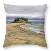Low Tide In Popham Beach Maine Throw Pillow