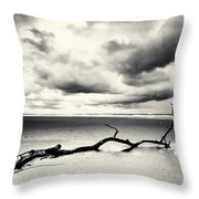 Low Tide, Lindisfarne Throw Pillow
