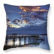 Low Tide Long Dock Throw Pillow
