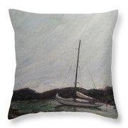 Low Tide Mooring Throw Pillow