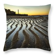 Low Tide On La Caleta Cadiz Spain Throw Pillow