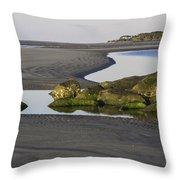 Low Tide On Tybee Island Throw Pillow
