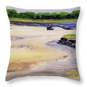 Low Tide Parsons Throw Pillow
