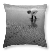 Low Tide Pool Two  Throw Pillow