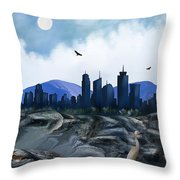 Low Tide Sea Side Throw Pillow