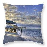 Low Tide Sunrise Tybee Island Throw Pillow