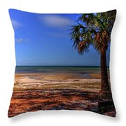 Low Tide Time Throw Pillow