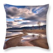Low Waters Throw Pillow