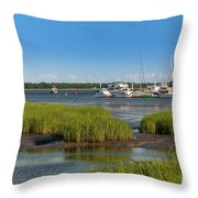 Lowcountry Blue Skies Throw Pillow