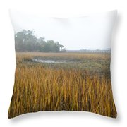 Lowcountry Fog Throw Pillow