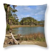 Lowcountry Lagoon Throw Pillow by Louise Heusinkveld