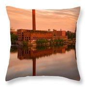 Lowell Skyline  Throw Pillow