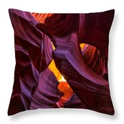 Lower Antelope Lines Throw Pillow