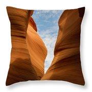 Lower Antelope Slot Canyon, Page, Arizona Throw Pillow