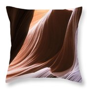 Lower Antelope Slot Canyon Throw Pillow