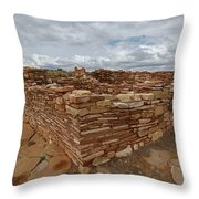 Lower Box Canyon Ruin Throw Pillow