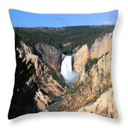 Lower Falls @ Yellowstone National Park Throw Pillow