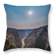 Lower Falls At Artist Point  Throw Pillow