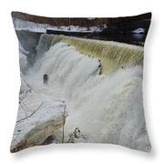Raging Yantic In March Throw Pillow