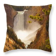 Lower Falls From Artists Viewpoint Throw Pillow